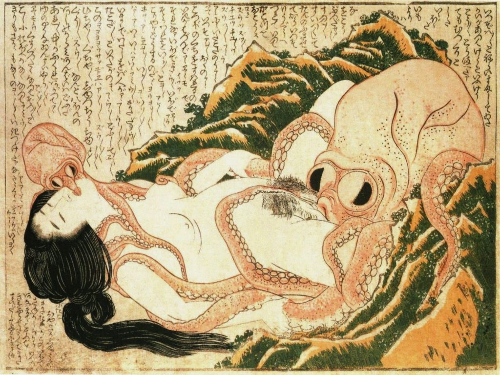 Hokusai octopus