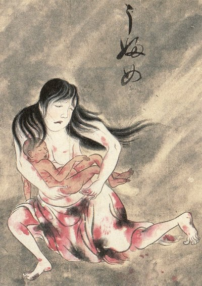Ubume Yokai which inspired Momo's design